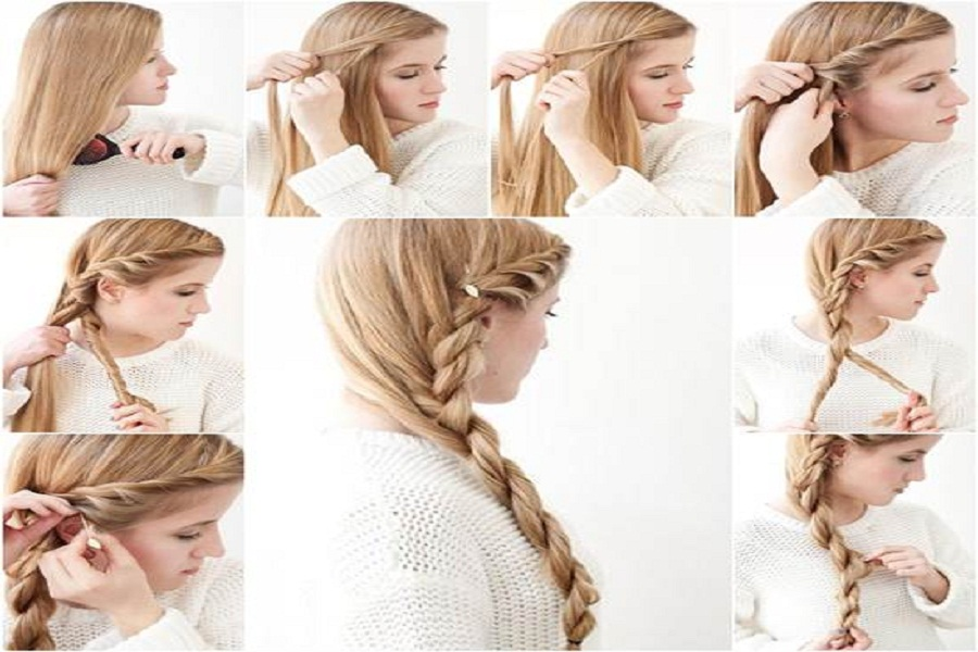 Simple Hairstyles to Look Great for School Side Braid
